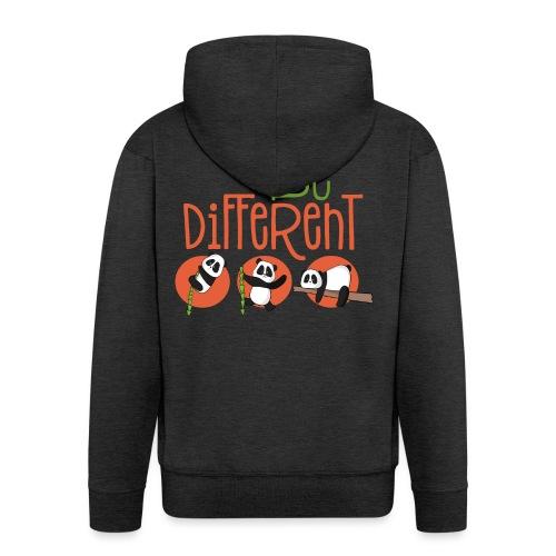Be Different Panda Bär - be yourself - Männer Premium Kapuzenjacke