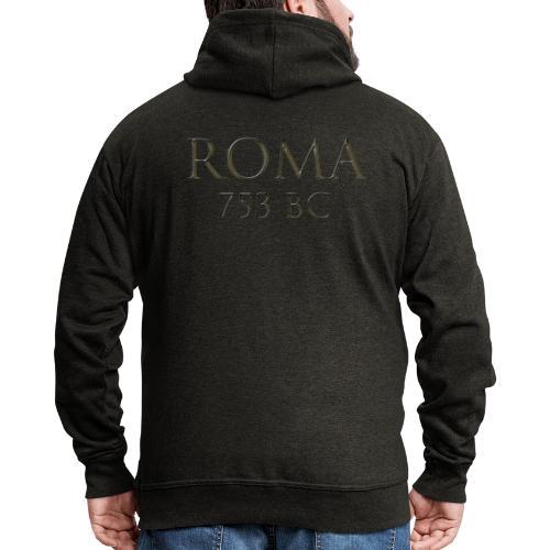 Nadruk Roma (Rzym) | Print Roma (Rome) - Rozpinana bluza męska z kapturem Premium