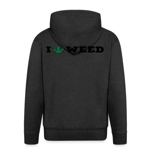 I LOVE WEED - Men's Premium Hooded Jacket