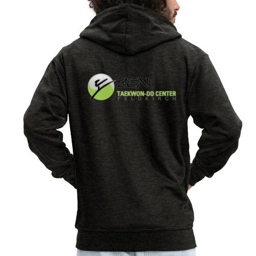 logo breit mit glow - Männer Premium Kapuzenjacke