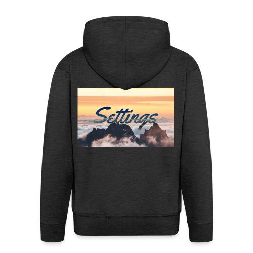 Settings Clouds - Men's Premium Hooded Jacket