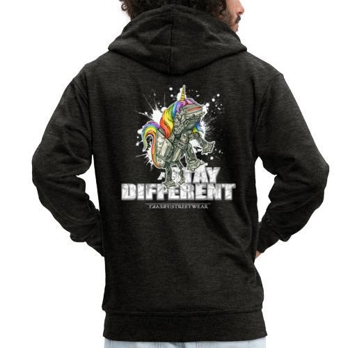 Stay Different - Imperial Unicorn - Männer Premium Kapuzenjacke