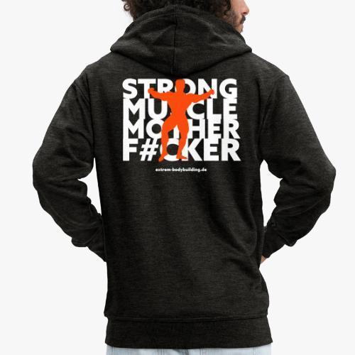 Stron Muscle Mother F#cker - Männer Premium Kapuzenjacke
