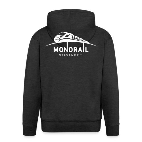 Monorail Hvit - Premium Hettejakke for menn