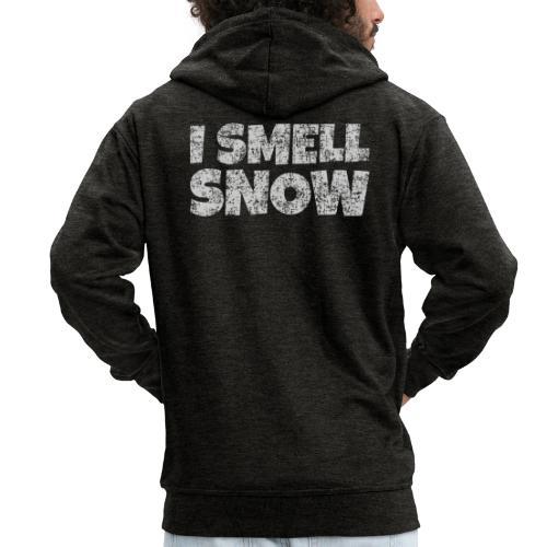 I Smell Snow (Grau) Schnee, Winter, Wintersport - Männer Premium Kapuzenjacke