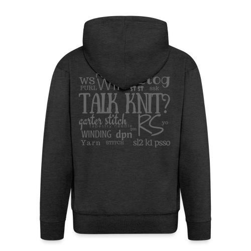 Talk Knit ?, gray - Men's Premium Hooded Jacket