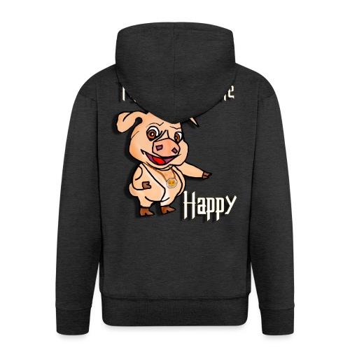 Oh my God pigs maakt mij blij - Mannenjack Premium met capuchon
