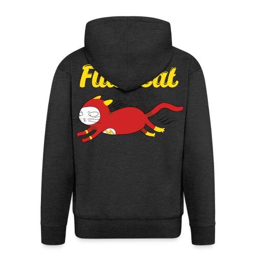 FlashCat Vintage Comic Katze Superheld - Männer Premium Kapuzenjacke