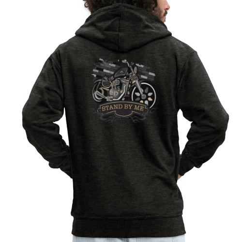 moto - Felpa con zip Premium da uomo