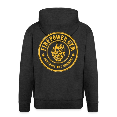 Firepower Gym Logo - Men's Premium Hooded Jacket
