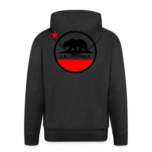 California Circle Flag - Men's Premium Hooded Jacket