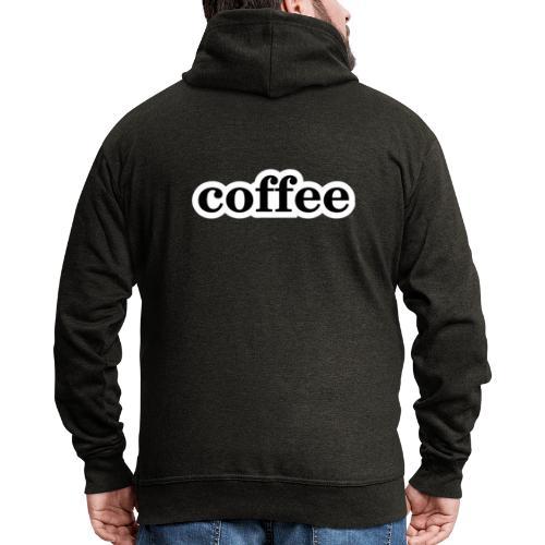 Kaffee - Männer Premium Kapuzenjacke