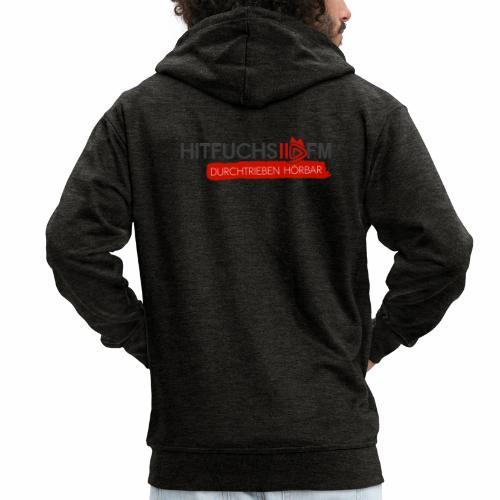 HitFuchs logo + slogan - Men's Premium Hooded Jacket