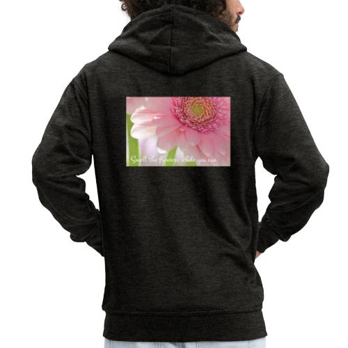 Smell the flowers while you can - Miesten premium vetoketjullinen huppari