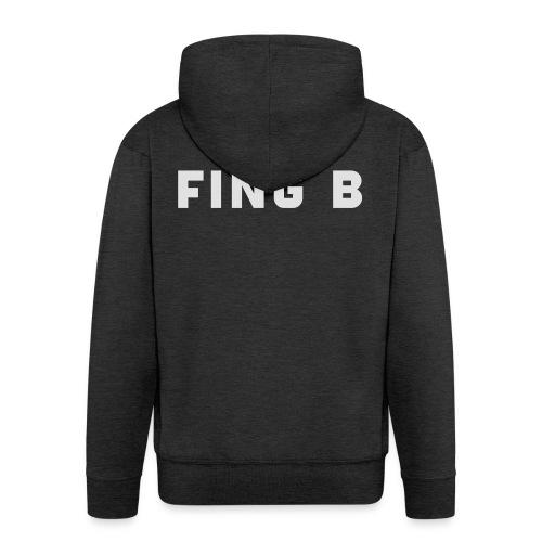 FING B Black Logo - Premium-Luvjacka herr