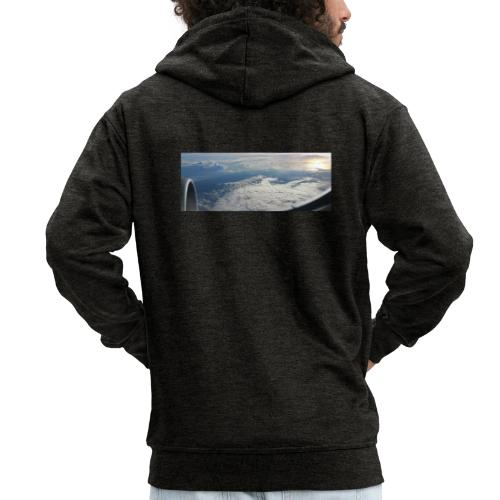 Flugzeug Himmel Wolken Australien - 2. Motiv - Männer Premium Kapuzenjacke