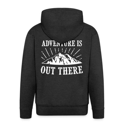 adventure - Rozpinana bluza męska z kapturem Premium