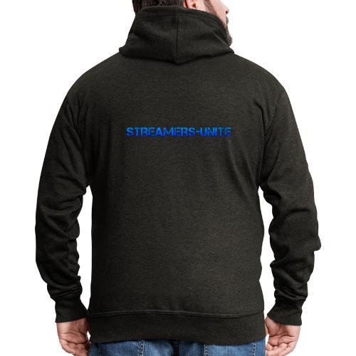 Streamers-Unite - Broken Blue - Mannenjack Premium met capuchon