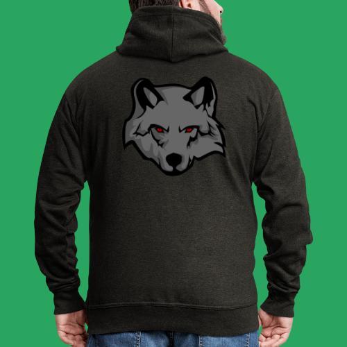 wolf logo - Felpa con zip Premium da uomo