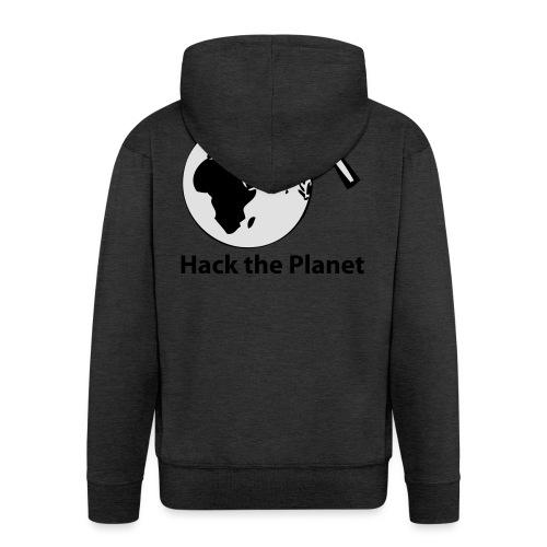 hack_the_planet_sw - Männer Premium Kapuzenjacke
