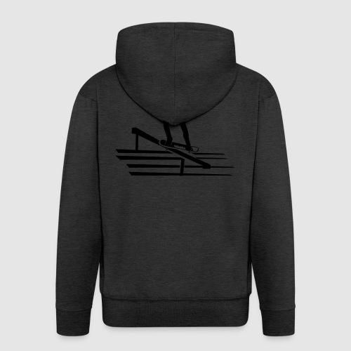 Skateboard - Männer Premium Kapuzenjacke
