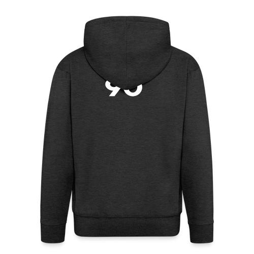 I love 90 - Felpa con zip Premium da uomo