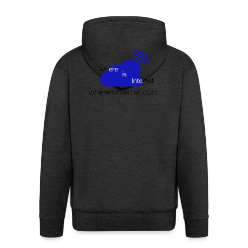 Where is the Internet - Men's Premium Hooded Jacket
