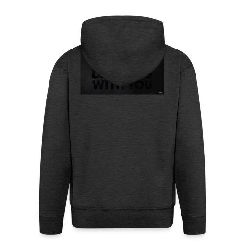 test dancing - Rozpinana bluza męska z kapturem Premium