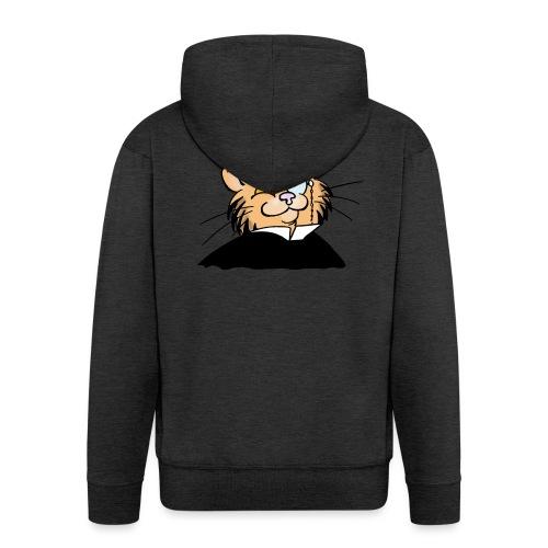 Gatto nonno - Felpa con zip Premium da uomo