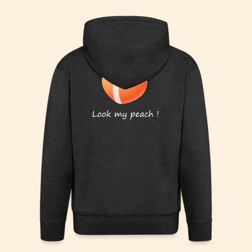 Look my peach in white - Men's Premium Hooded Jacket