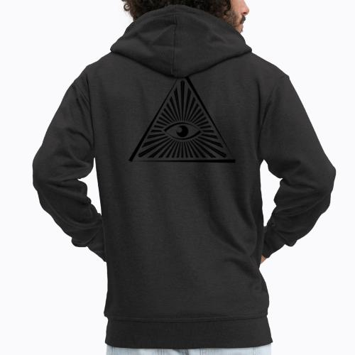 eye - Men's Premium Hooded Jacket