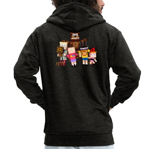 Withered Bonnie Productions - Meet The Gang - Men's Premium Hooded Jacket