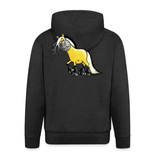 fjord_horse - Men's Premium Hooded Jacket