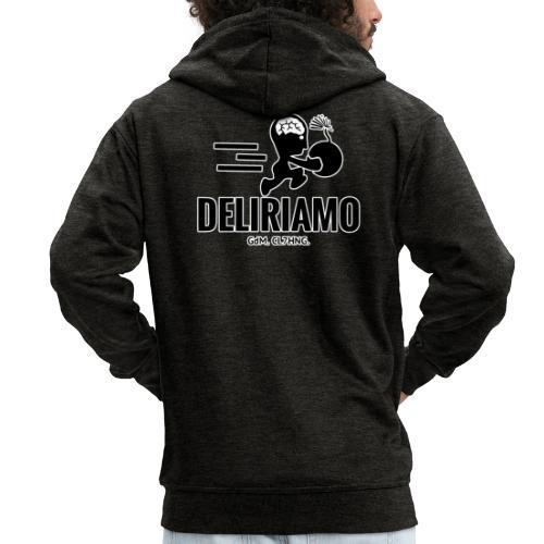 DELIRIAMO CLOTHING BRAINBOMB - Felpa con zip Premium da uomo