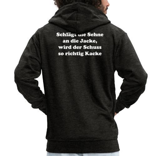Sehne Jacke white - Männer Premium Kapuzenjacke