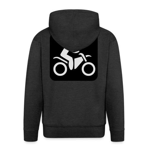 motorcycle - Miesten premium vetoketjullinen huppari