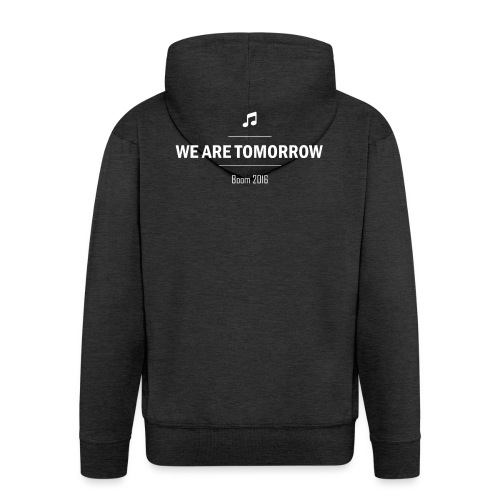 We Are Tomorrow White - Veste à capuche Premium Homme