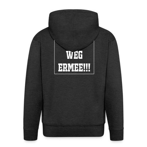 Protest t-shirt tegen de vluchtelingen. - Mannenjack Premium met capuchon