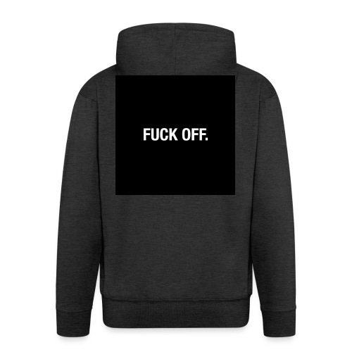 FUCK OFF. - Felpa con zip Premium da uomo