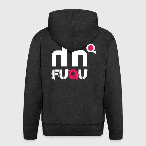 T-shirt FUQU logo colore bianco - Felpa con zip Premium da uomo