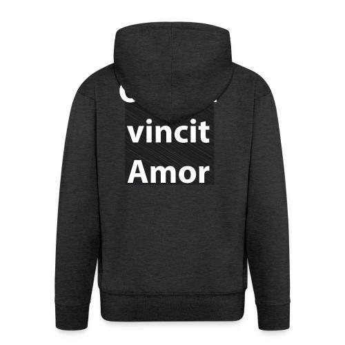 omnia vincit amor - Felpa con zip Premium da uomo