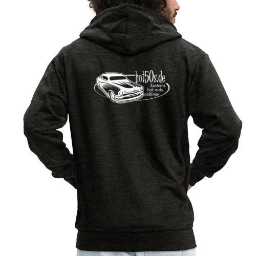 hot50s Logo weiss - Männer Premium Kapuzenjacke