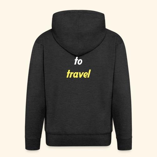 Time to travel - Veste à capuche Premium Homme