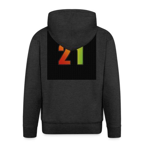 21 Hoody - Männer Premium Kapuzenjacke