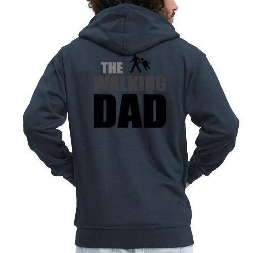 the walking dad auf dem Weg in die lustige Bar - Männer Premium Kapuzenjacke