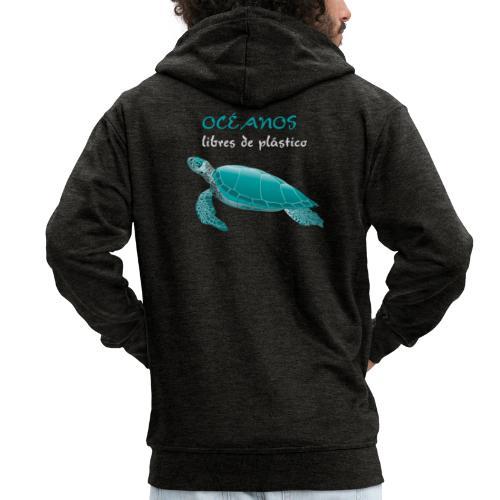 Océanos libres de plástico - Chaqueta con capucha premium hombre
