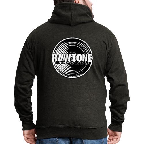 Rawtone Records - full logo - Men's Premium Hooded Jacket