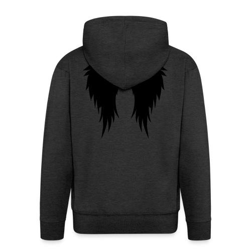 Supernatural wings (vector) Hoodies & Sweatshirts - Men's Premium Hooded Jacket