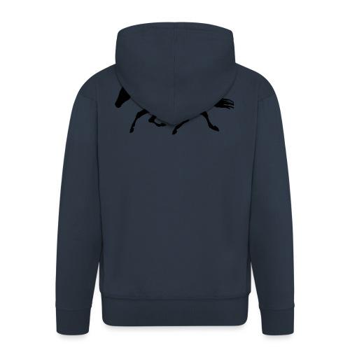 Cavallo - Felpa con zip Premium da uomo