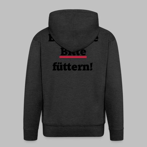 Biotonne - Bitte füttern! - Männer Premium Kapuzenjacke